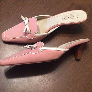 COACH Marielle Dusty Pink Suede Slides, US Size 8